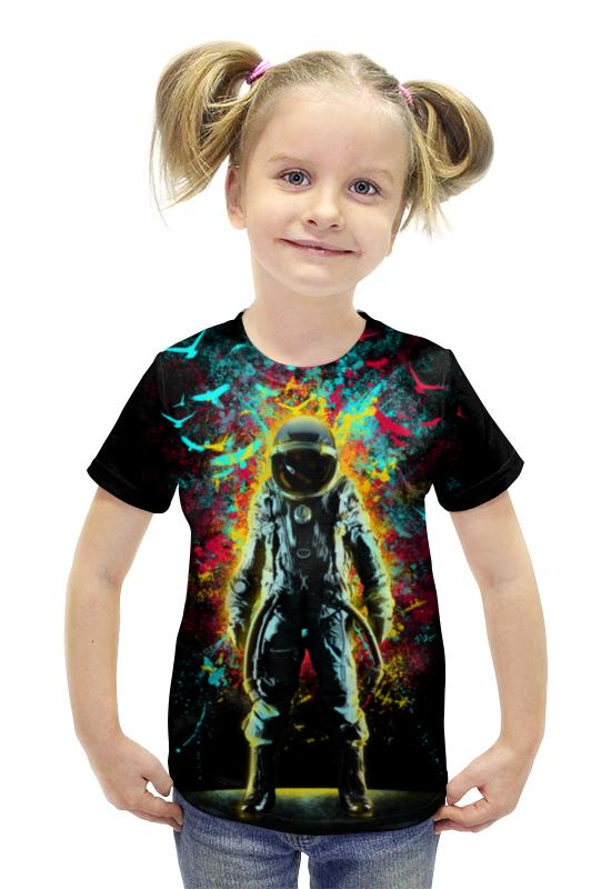 Футболка с полной запечаткой для девочек Printio Космонавт футболка с полной запечаткой для девочек printio пртигр arsb