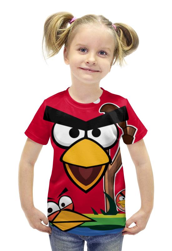 Футболка с полной запечаткой для девочек Printio Angry birds 2