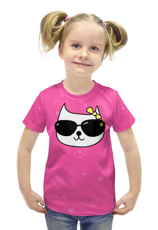 Футболка с полной запечаткой для девочек Printio Kitty футболка с полной запечаткой для девочек printio пртигр arsb