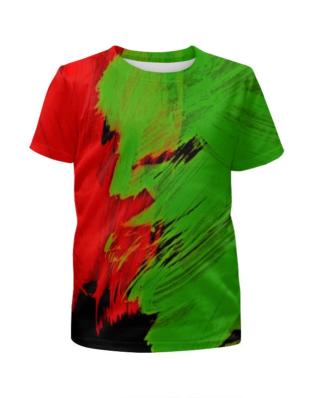 Футболка с полной запечаткой для девочек Printio Битва красок футболка с полной запечаткой для девочек printio всплеск красок