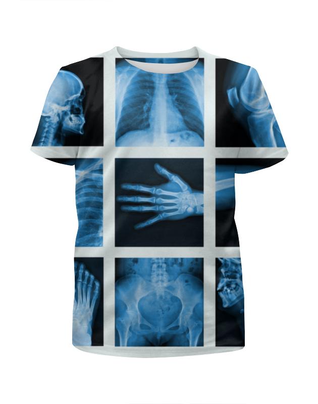 Футболка с полной запечаткой для девочек Printio X-ray of bones