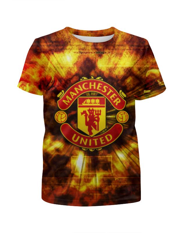 Футболка с полной запечаткой для девочек Printio Манчестер юнайтед (мю) футболка манчестер юнайтед