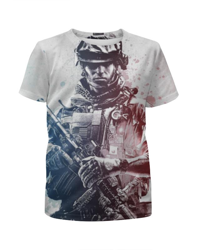 Футболка с полной запечаткой для девочек Printio Солдат (battlefield) футболка с полной запечаткой мужская printio солдат battlefield