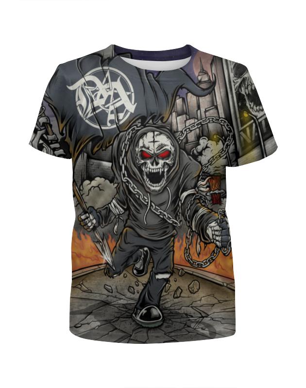 Printio Скелет в цепях футболка с полной запечаткой для девочек printio скелет с гитарой
