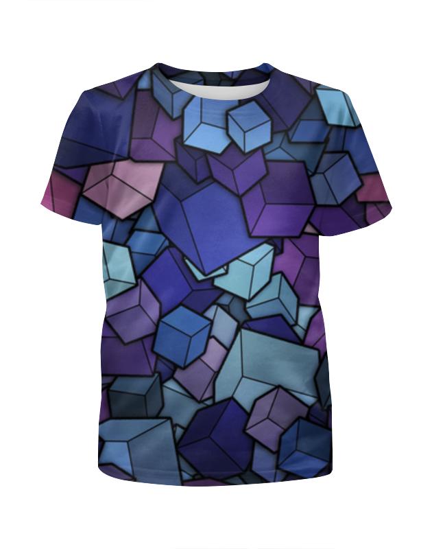Футболка с полной запечаткой для девочек Printio Abstract cubes