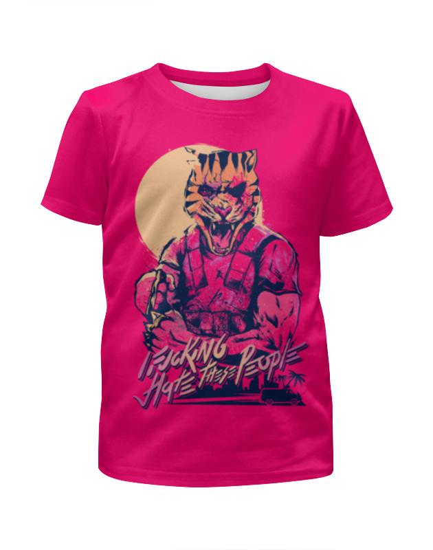 Футболка с полной запечаткой для девочек Printio Hotline miami футболка hotline miami