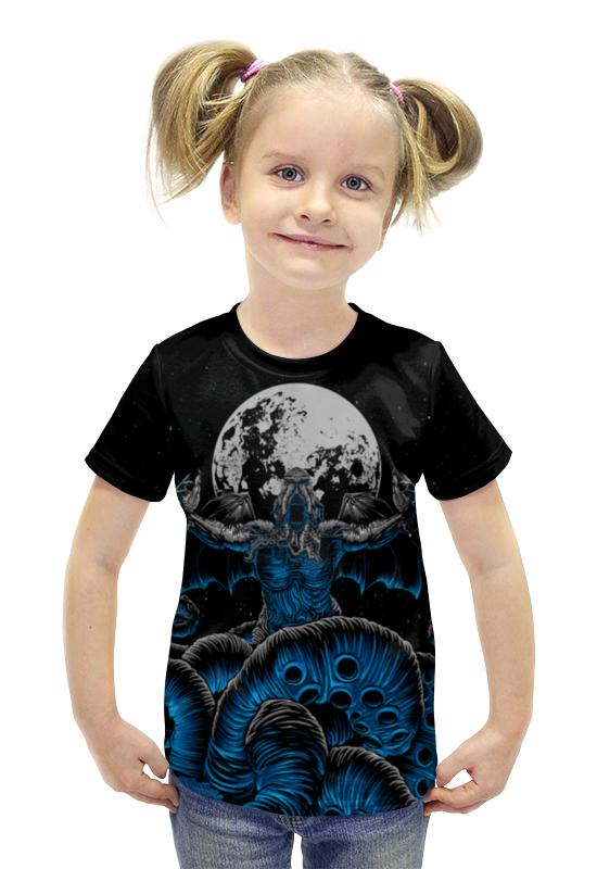 Футболка с полной запечаткой для девочек Printio Зов ктулху футболка с полной запечаткой printio зов поль гоген