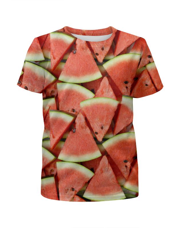 Футболка с полной запечаткой для девочек Printio Watermelon watermelon face faux leather watch