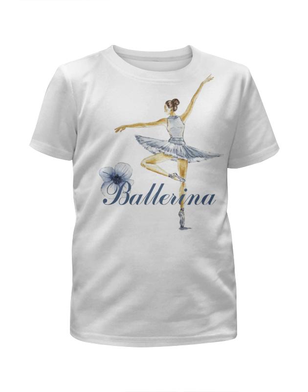 Футболка с полной запечаткой для девочек Printio Балерина