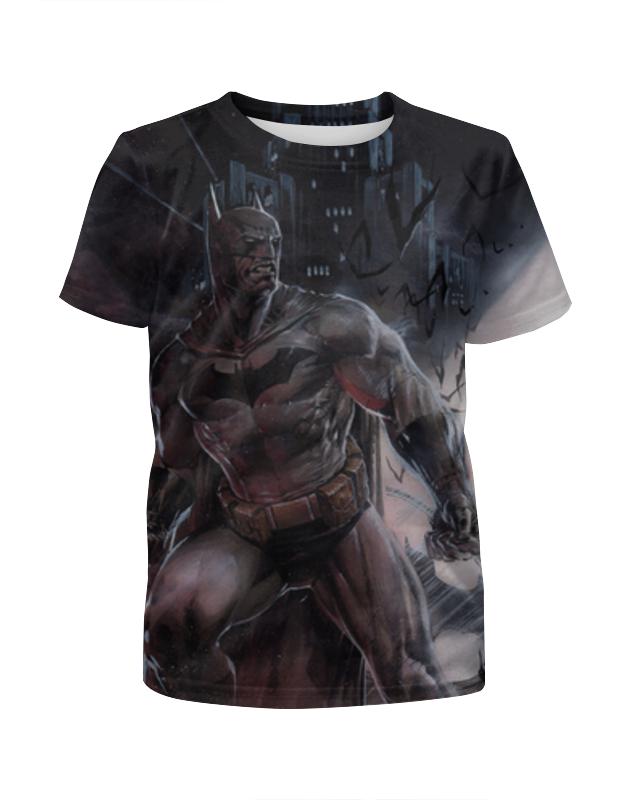 Футболка с полной запечаткой для девочек Printio Бэтмен / batman футболка с полной запечаткой для девочек printio batman x joker бэтмен