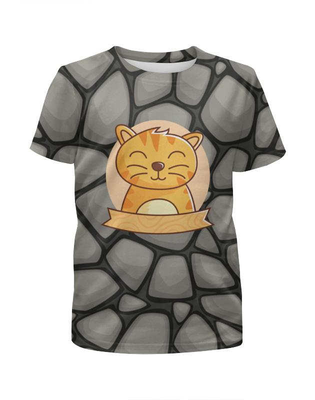 Футболка с полной запечаткой для девочек Printio Спящий  котёнок футболка с полной запечаткой для девочек printio spawn
