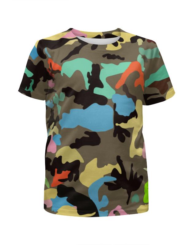 Футболка с полной запечаткой для девочек Printio Модный камуфляж футболка камуфляж