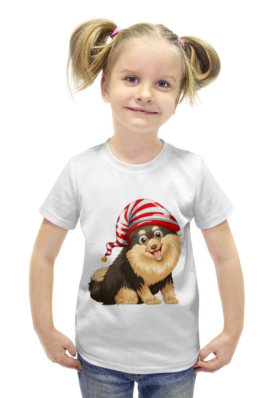 Футболка с полной запечаткой для девочек Printio Забавный щенок футболка с полной запечаткой для девочек printio щенок