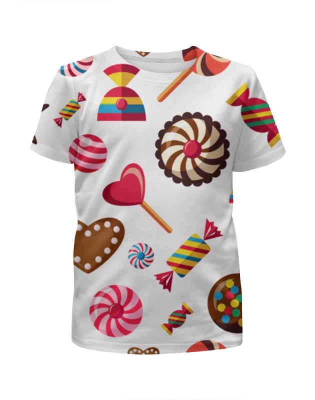 Фото - Футболка с полной запечаткой для девочек Printio Сладости футболка с полной запечаткой для девочек printio стикеры