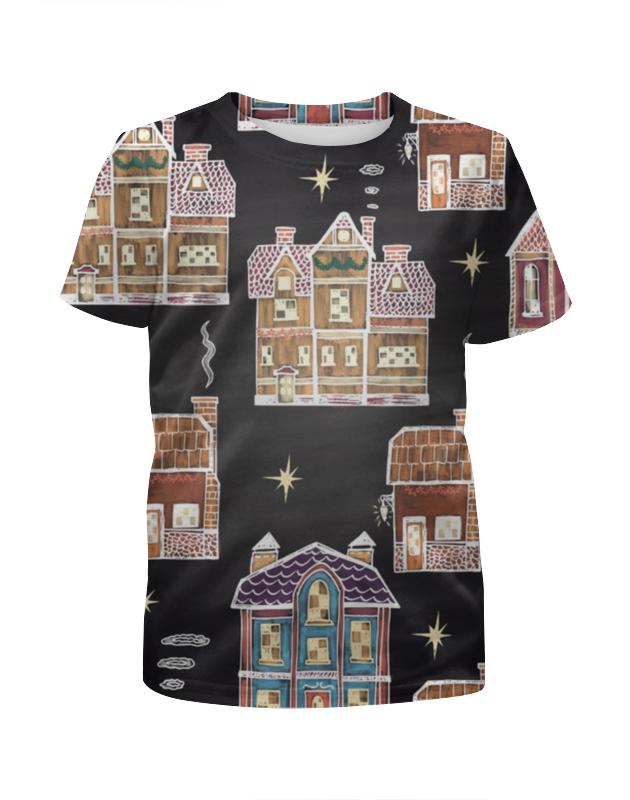 Футболка с полной запечаткой для девочек Printio Праздничное рождество футболка с полной запечаткой для девочек printio рождество христово