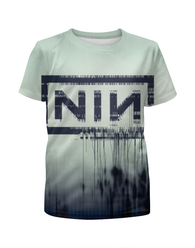 Футболка с полной запечаткой для девочек Printio Nine inch nails with teeth new arrival dental all teeth removable standard teeth tooth model 28 pcs teeth student learning model