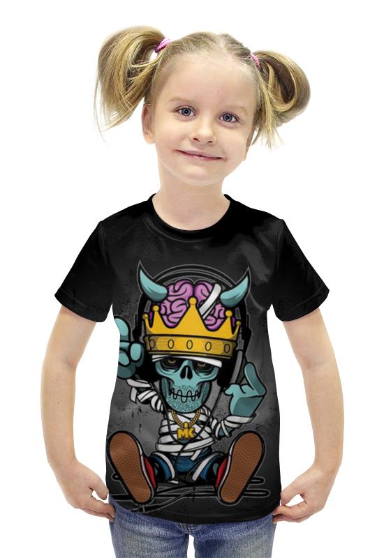 Футболка с полной запечаткой для девочек Printio Скелетончик футболка с полной запечаткой для девочек printio spawn