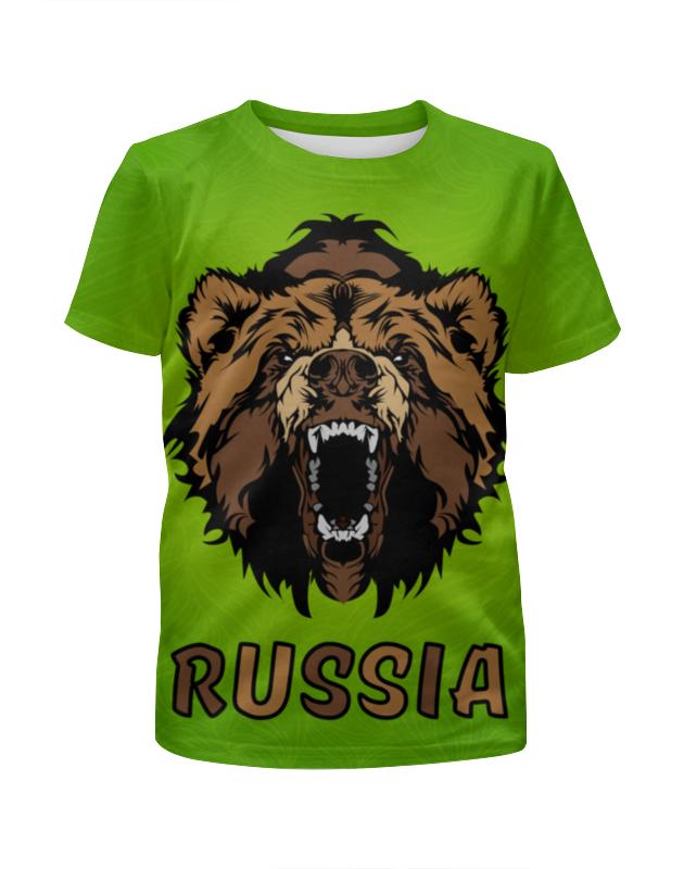 Футболка с полной запечаткой для девочек Printio Россия (russia) футболка с полной запечаткой printio москва россия