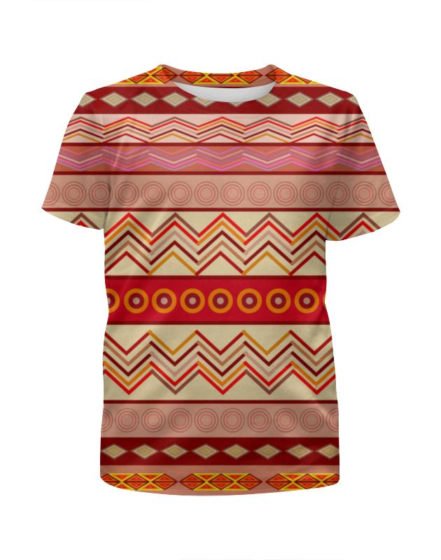 Футболка с полной запечаткой для девочек Printio Ethnic hooded ethnic insert top