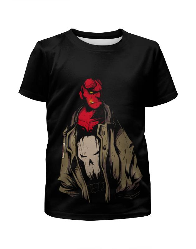 Футболка с полной запечаткой для девочек Printio Hellboy футболка с полной запечаткой для девочек printio зимние забавы