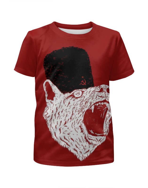 цена на Футболка с полной запечаткой для девочек Printio Comrade bear