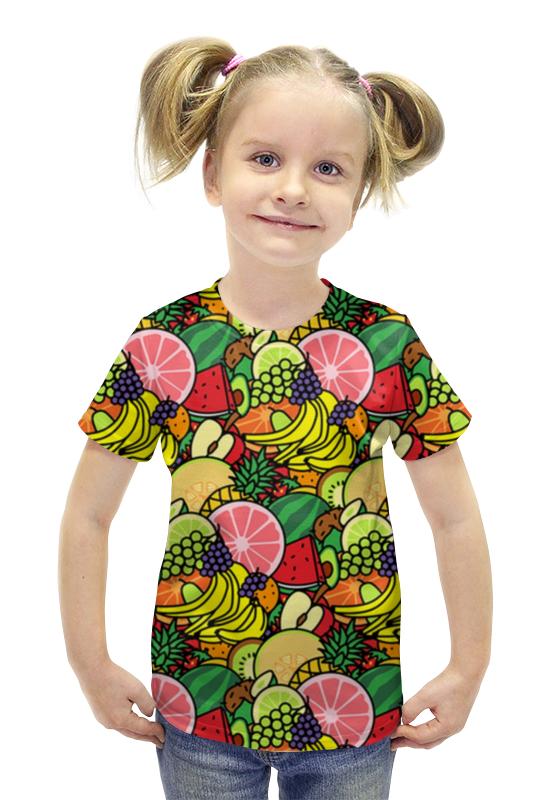 Футболка с полной запечаткой для девочек Printio Фруктовая футболка с полной запечаткой для девочек printio рианна