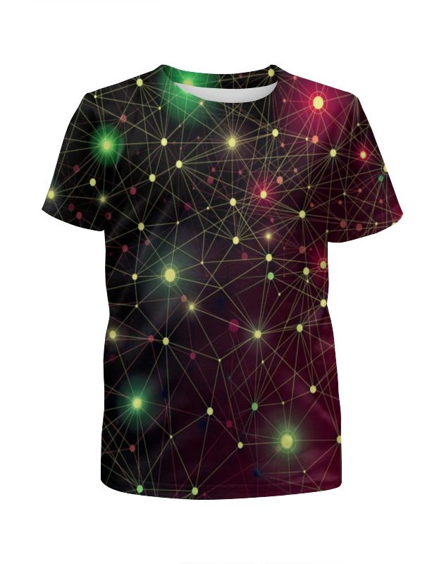 Фото - Футболка с полной запечаткой для девочек Printio Созвездие футболка с полной запечаткой женская printio созвездие рака