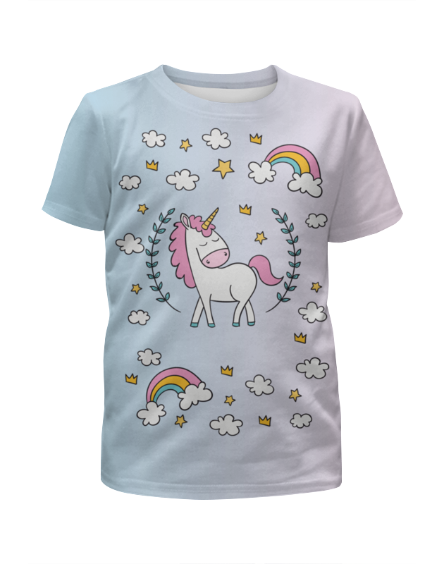 Футболка с полной запечаткой для девочек Printio Единорог футболка с полной запечаткой для девочек printio joker