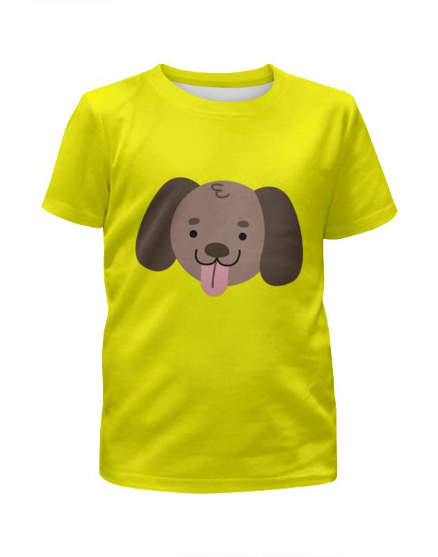 Футболка с полной запечаткой для девочек Printio Весёлый щенок футболка с полной запечаткой для девочек printio щенок