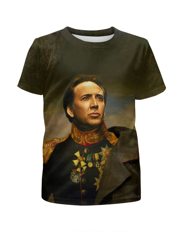 Футболка с полной запечаткой для девочек Printio Nicolas cage 100% original digital camera repair parts for sony cyber shot dsc hx300 dsc hx400 hx300 hx400 lens zoom unit