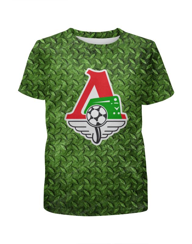 Футболка с полной запечаткой для девочек Printio Локомотив цена
