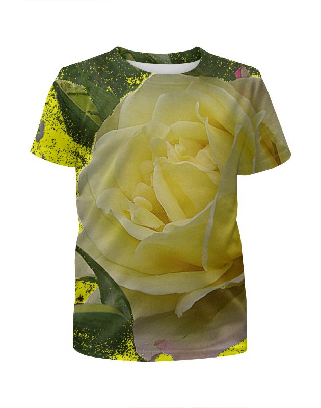 Футболка с полной запечаткой для девочек Printio Нежность. футболка с полной запечаткой для девочек printio heroo
