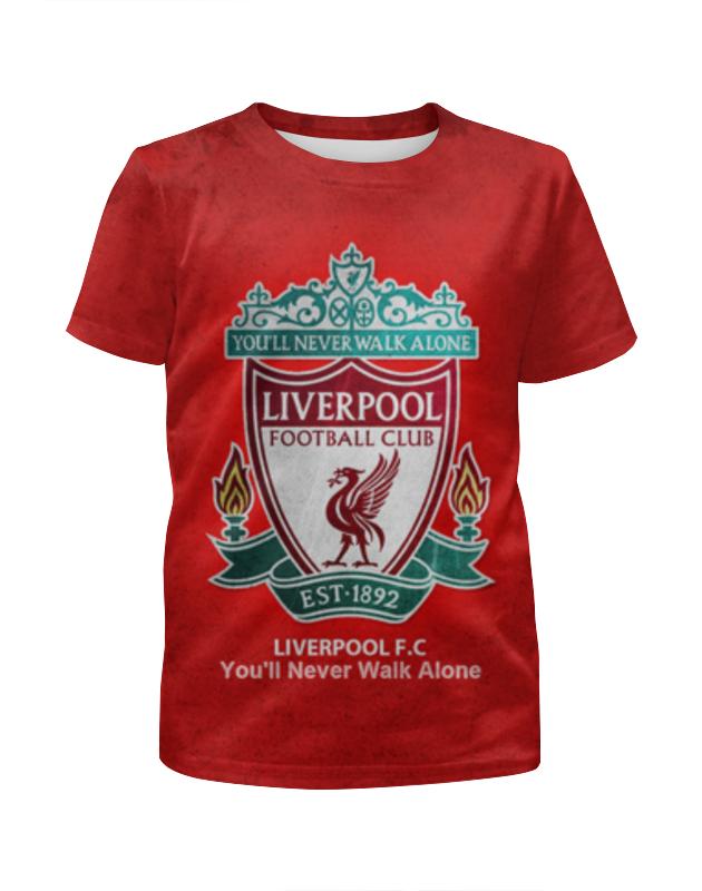 Футболка с полной запечаткой для девочек Printio Liverpool (ливерпуль) футболка с полной запечаткой printio фан клуб вовочки