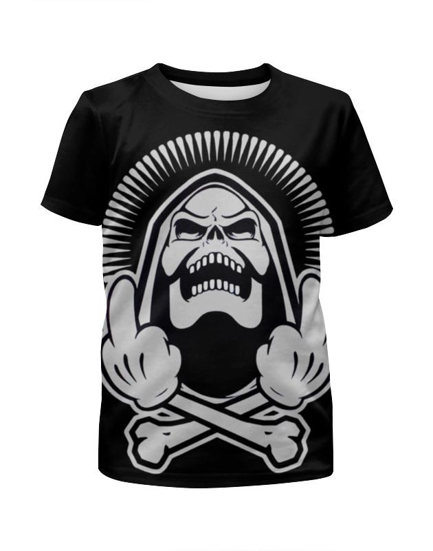 Футболка с полной запечаткой для девочек Printio Skeleton f*ck you футболка с полной запечаткой для девочек printio i want you for nova corps