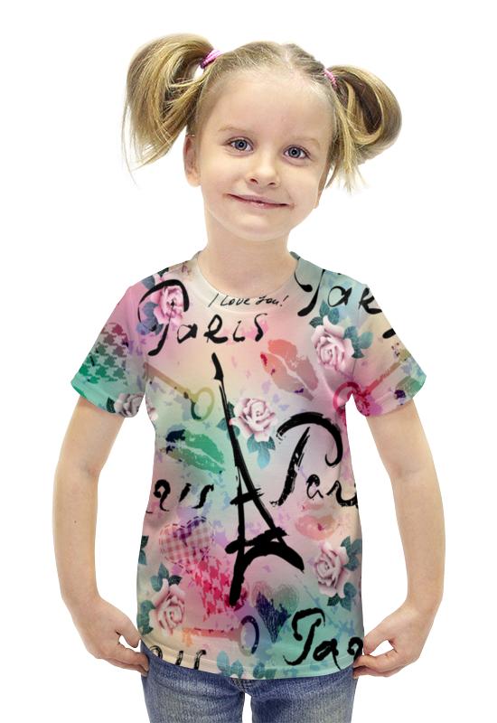 Футболка с полной запечаткой для девочек Printio Париж футболка с полной запечаткой для девочек printio пртигр arsb
