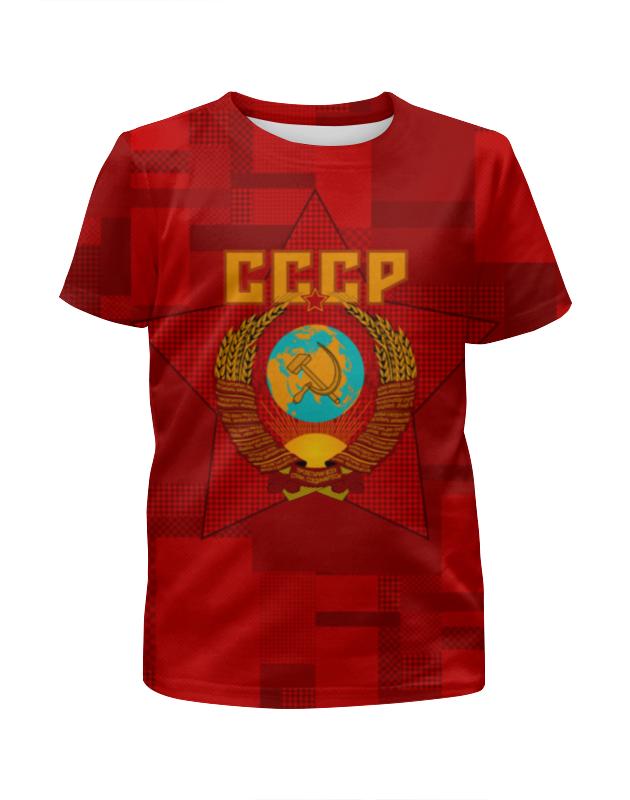Футболка с полной запечаткой для девочек Printio Советский союз