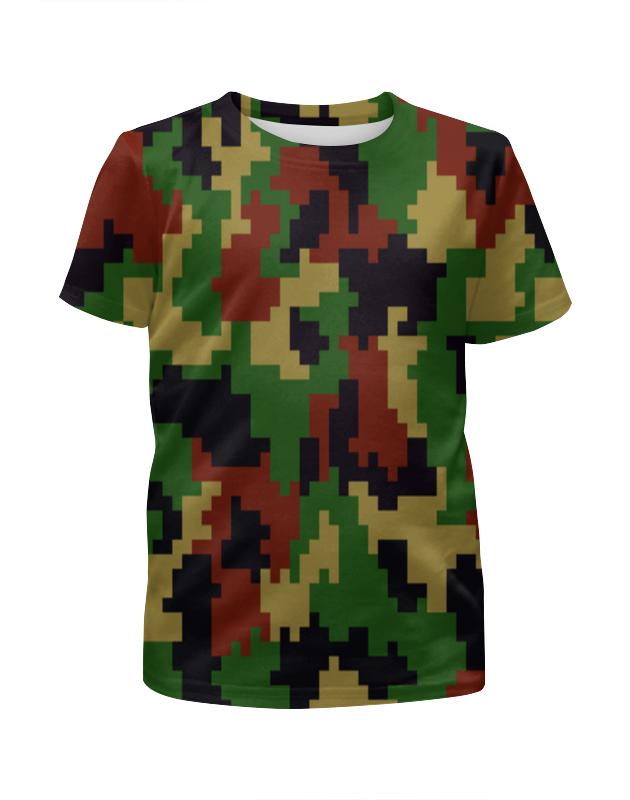 Футболка с полной запечаткой для девочек Printio Цветной камуфляж футболка с полной запечаткой для девочек printio пртигр arsb