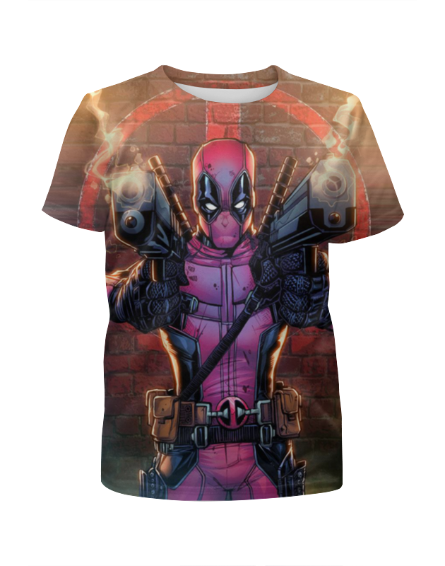 Фото - Футболка с полной запечаткой для девочек Printio Deadpool футболка с полной запечаткой для девочек printio deadpool when in rome