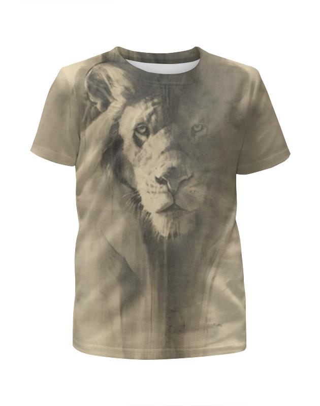 Футболка с полной запечаткой для девочек Printio Песчаный лев футболка с полной запечаткой для девочек printio полигональный лев