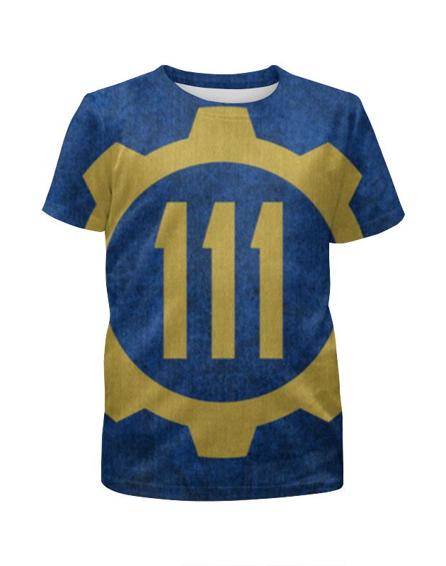 Футболка с полной запечаткой для девочек Printio Убежище 111 (fallout 4) футболка jockey 854045h 111
