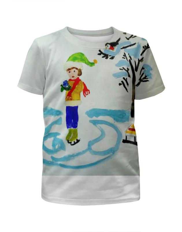 Футболка с полной запечаткой для девочек Printio Зимние забавы футболка с полной запечаткой для девочек printio зимние забавы