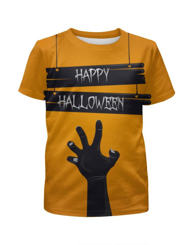 Футболка с полной запечаткой для девочек Printio Happy halloween футболка с полной запечаткой мужская printio happy castle halloween