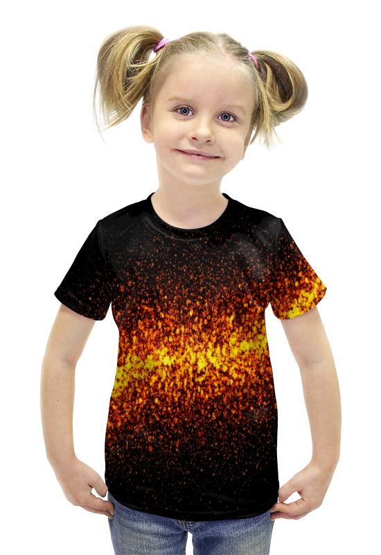 Футболка с полной запечаткой для девочек Printio Огонь футболка с полной запечаткой для девочек printio пртигр arsb