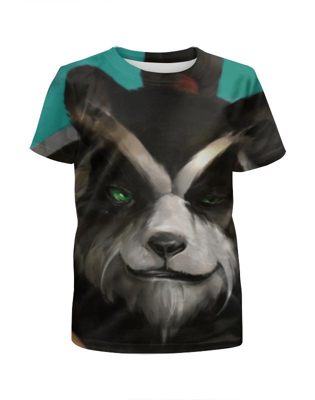 Футболка с полной запечаткой для девочек Printio Панда (panda) футболка с полной запечаткой мужская printio панда panda