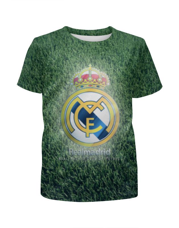 Футболка с полной запечаткой для девочек Printio Реал мадрид рубашка поло с полной запечаткой printio реал мадрид
