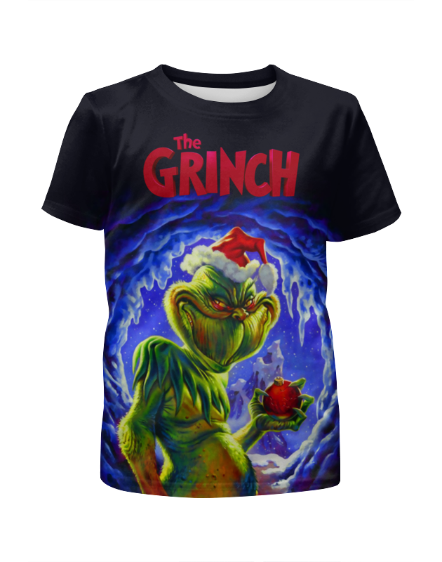 Printio The grinch футболка с полной запечаткой для девочек printio the phantom menace