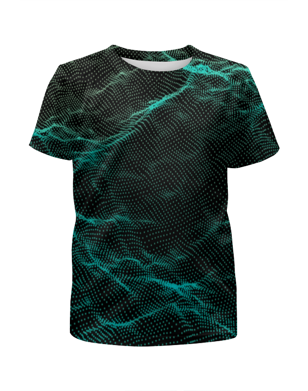 Футболка с полной запечаткой для девочек Printio Оптический узор футболка с полной запечаткой для девочек printio волнистый узор