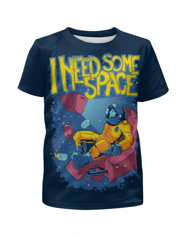 Футболка с полной запечаткой для девочек Printio В космосе футболка с полной запечаткой для девочек printio slove arsb