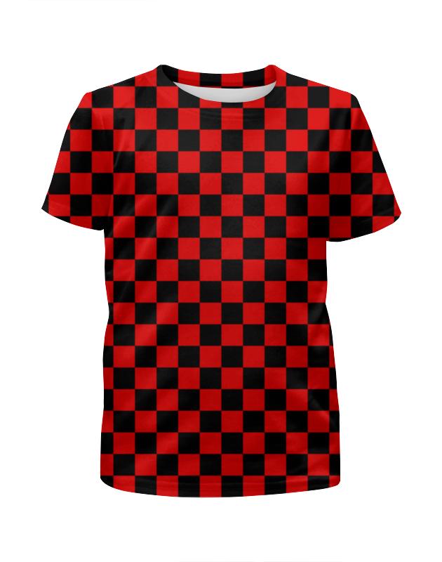 Printio Шашечка футболка с полной запечаткой для девочек printio на отдых