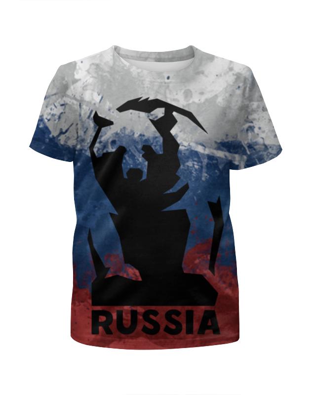 Футболка с полной запечаткой для девочек Printio Русский медведь (russian bear) лонгслив printio bear beer медведь и мед